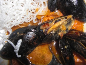 The Curried Mussels