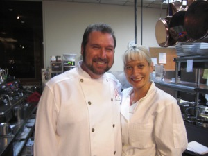 Chef Allen next to Perky