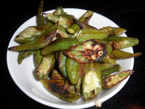 Roasted Okra...a delicious healthy snack and/or a tasty side dish!