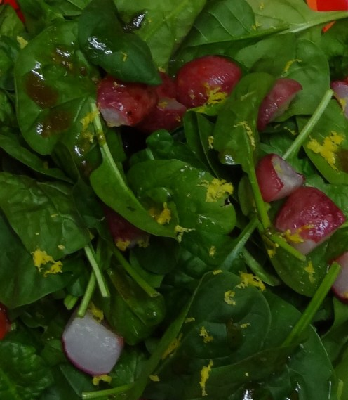 Roasted Radishes in a salad