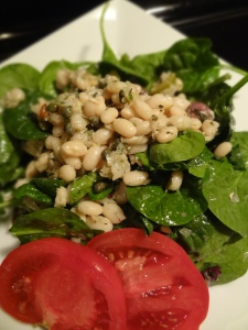 Imported Tuna & Bean Salad on dressed greens