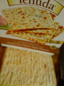 This Gluten Free Matzo from Yehuda is awesome.. this is the toasted onion flavor